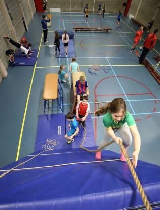 Kinderen sporten in Maastricht