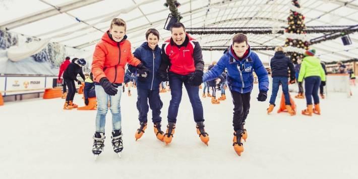Schoolschaatsen op het Vrijthof met Maastricht Sport